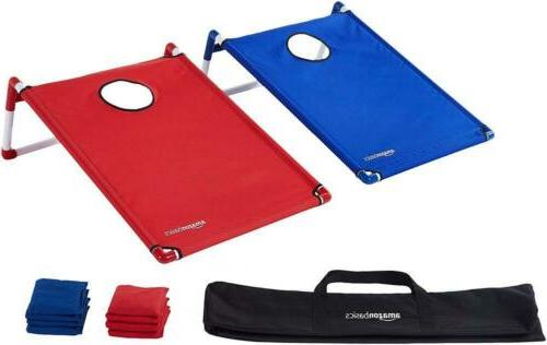 portable pvc framed cornhole set