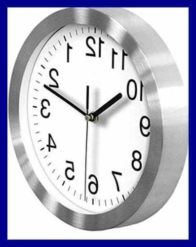 """Silent 10"""" Wall Clock For Silver"""