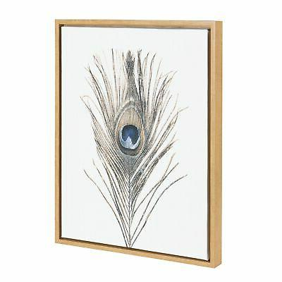 Kate and Laurel Sylvie Feather Wall Art