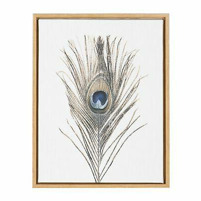 Kate and Laurel Feather Framed Canvas Art