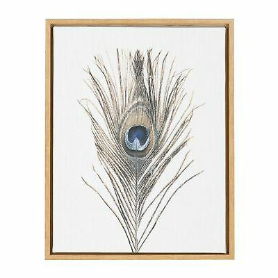 sylvie feather framed canvas wall art by