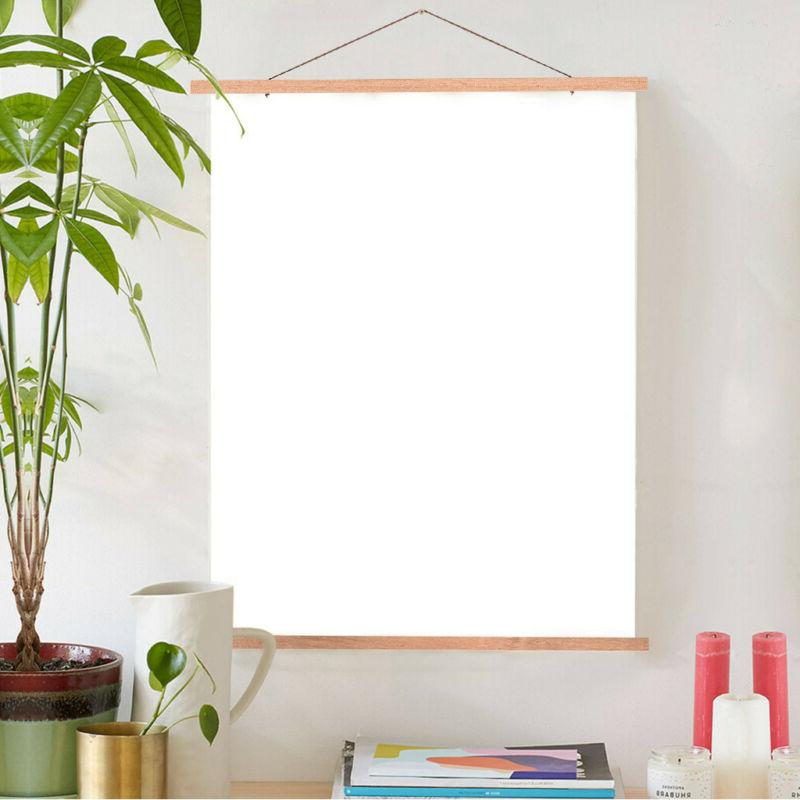 24x36 24x18 Poster Frame, Light Wood Wooden Magnetic Poster