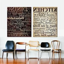 Letter Wall Art Pictures Kitchen Word Canvas Painting For Li