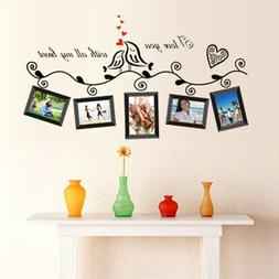 Love Birds Photo Frame Home Removable Wall Stickers Decal Mu