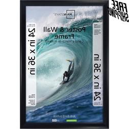 """Mainstays 24x36"""" Thin Poster and Picture Frame - Black"""