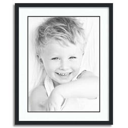 """ArtToFrames Matted 22x28 Black Picture Frame with 2"""" Double"""