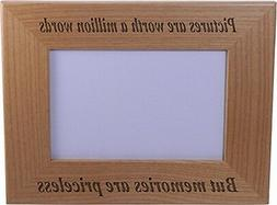 Memories Are Priceless - Wood Picture Frame Holds 4x6 Inch P