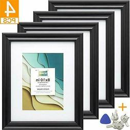 Memory Island 8x10 Picture Frames with 5x7 Mat Set of 4 Pack