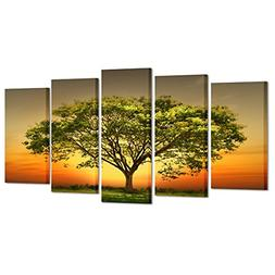 Kreative Arts - Modern 5 Panels Stretched and Framed Giclee