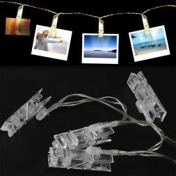 Painting Frame USB/Battery Picture Album LED Photo Clips Str