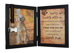 Pet Memorial Picture Frames Dog Cat Ribbon Tag Features Fold