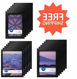 Photo Frame Picture Poster Black Set Of 6 8x10, 5x7, 4x6 Hom