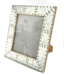 Photo Frame Shiny Galvanized Metal With Rivet Borders On Woo