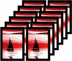 Americanflat 12 Pack - 4x6 Black Picture Frames with Glass F