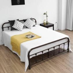 Giantex Queen Size Metal Steel Bed Frame with