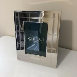 """Ralph Lauren Home 5x7"""" Photo Picture Frame Silver Metal"""