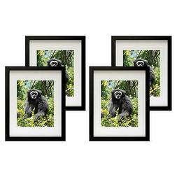 Golden State Art, Set of 4, 11x14 Black Photo Frame with Rea