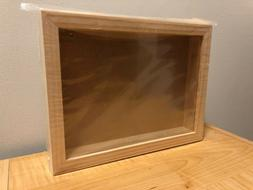 "Shadow box Frame 8"" x 11"" Darice Plastic Front Unfinished Wo"