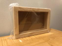 "Shadow box Frame 9"" x 6"" DARICE Plastic Front Unfinished Woo"
