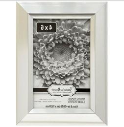"""Silver Photo 4 x 6"""" inch Picture Frame Wedge Edge by Special"""