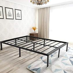 Zizin 14 Inch Steel Platform Bed Frame Easy Assembly Heavy D