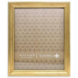 Lawrence Frames Sutter Gold 8x10 Picture Frame, 8 by 8 10-In