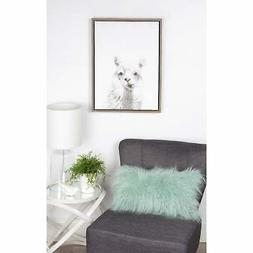 Kate and Laurel Sylvie Alpaca Portrait Framed Canvas by
