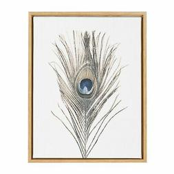 Kate and Laurel Sylvie Feather Framed Canvas Wall Art by