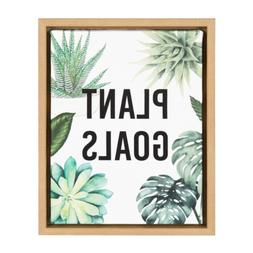 Sylvie Plant Goals 11x14 Natural Framed Canvas Wall Art by K