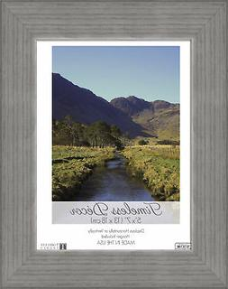 Darice Timeless Frames Shea Wood Picture Frame Weather Gray