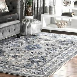 nuLOOM Traditional Southwestern Versaille Aztec Ombre Frame