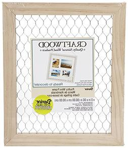 Darice 9190-9633 Unfinished Frame with Chicken Wire, 8 by 10