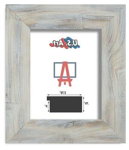 "US Art Frames 2.75"" Distressed Textured White Solid Barn woo"