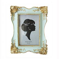Vintage Picture Frame Antique Tabletop Wall Hanging Photo Fr