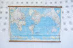 Vintage World Map Wall Hanging for Wall Art Home Decor Bar F