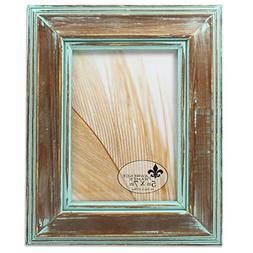 Lawrence Frames 733157 5x7 Weathered Wood with Verdigris Was