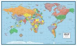 World Classic Elite Wall Map Mural Poster: Paper-Laminated-F